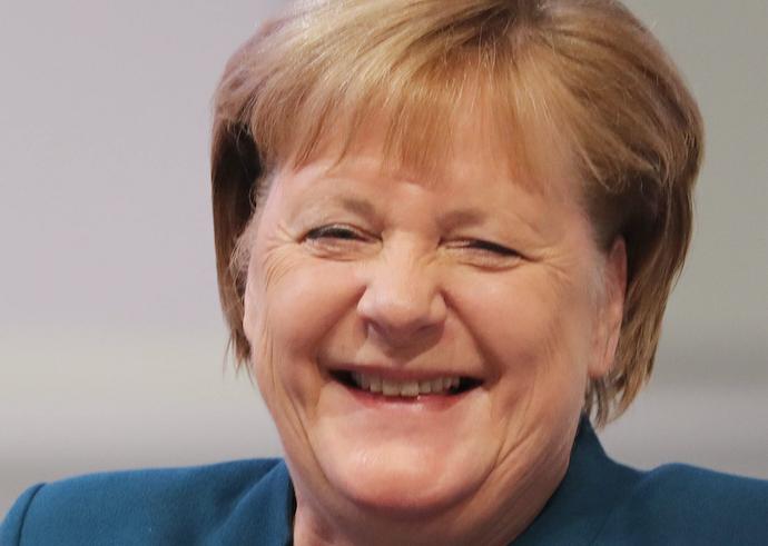 Merkel: Alles läuft nach Plan (Foto:Imago/Minkoff)